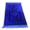 Grand Tapis de Prière - Bleu Roi - Motif Mekka - Molletonné, Épais et Trés Doux - Confortable et Anti-Dérapant