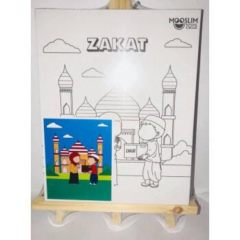 Kit Toile à Peindre - Zakât (Aumône) - Mooslim Toys