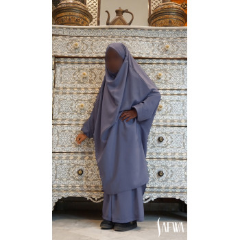 Jilbab Enfant - Gris Bleu - Safwa