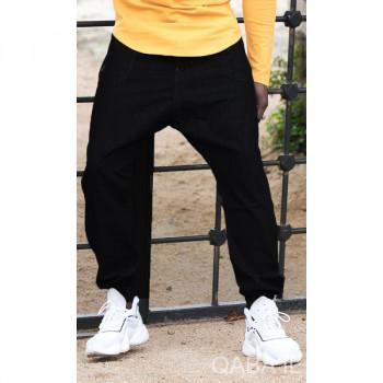 Saroual Pants Jeans - Noir - Coupe Djazairi - Qaba'il