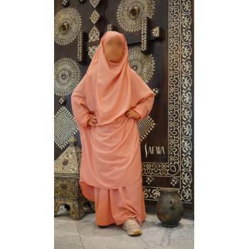 Jilbab Enfant - Rose Saumon - Safwa