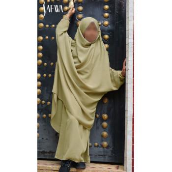 Jilbab Enfant - Kaki Clair - Safwa