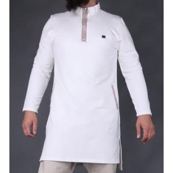 Qamis court blanc cassé Qaba'il : Boss