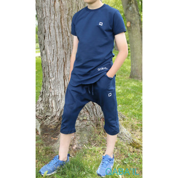 Ensemble Nautik Kid - Indigo - Sarouel + T-Shirt de 3 à 16 ans - Qaba'il