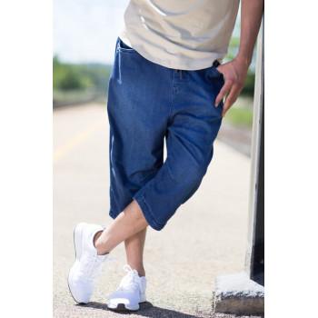 Saroual Short Jeans - Coupe Djazairi - BLEU STONE - Timssan