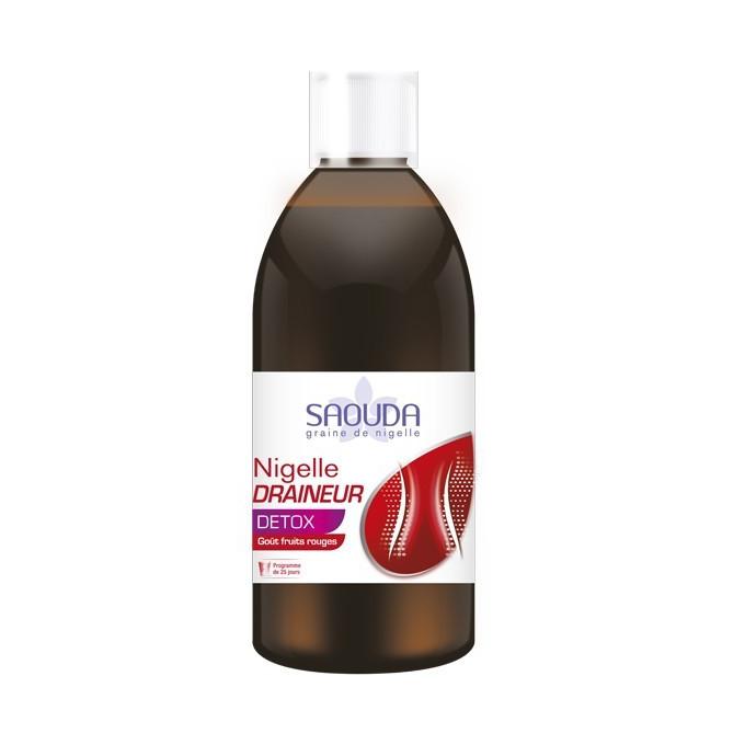 Nigelle DRAINEUR DETOX - Boisson Drainante pour MAIGRIR et Détoxification - Goût Fruits Rouges