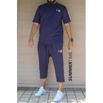Ensemble Hybrid NIII - Bleu - T-Shirt Oversize - Saroual Djazairy - Na3im