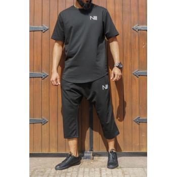 Ensemble Hybrid NIII - Noir - T-Shirt Oversize - Saroual Djazairy - Na3im