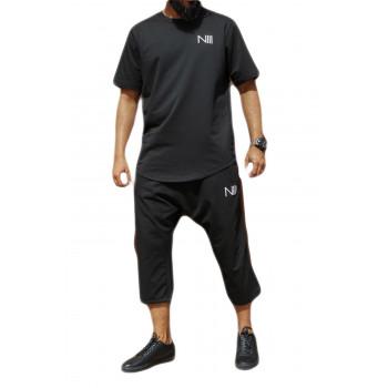 Ensemble Hybrid 100% Coton - Noir - T-Shirt Oversize - Saroual Djazairi - Na3im