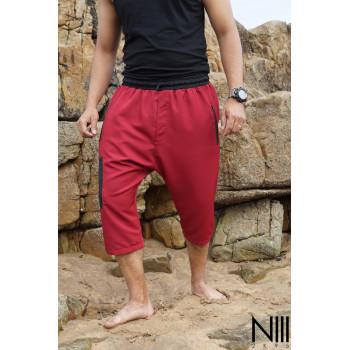 Saroual de Bain NIII - Rouge - Coupe Djazairi - Na3im