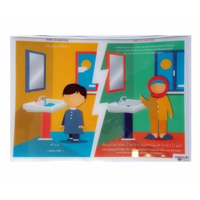 Autocollant ou Sticker - Avant et Après Les Ablutions - A5 : 14 x 20 cm - Mooslim Toys
