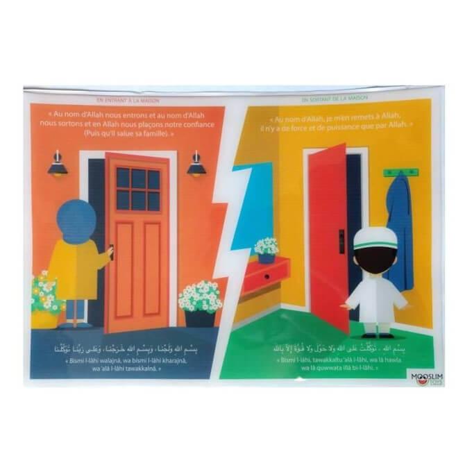 Autocollant ou Sticker - En Entrant et En Sortant de la Maison - A5 : 14 x 20 cm - Mooslim Toys