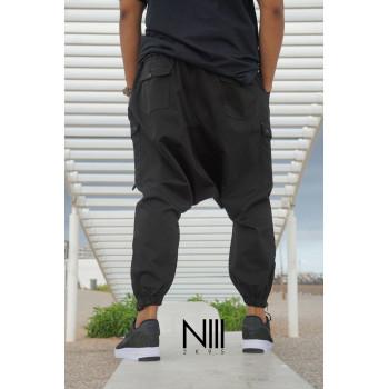 Sarouel noir N3 pour homme - Na3im