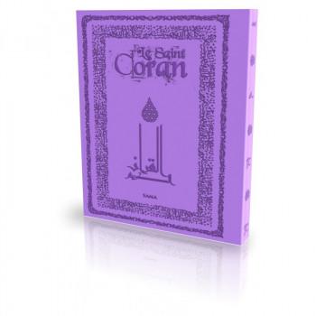 Le Coran - Arabe et Français - Couverture Daim Souple Mauve - Edition Sana