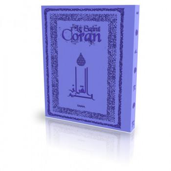 Le Coran - Arabe et Français - Couverture Daim Souple Violet - Edition Sana