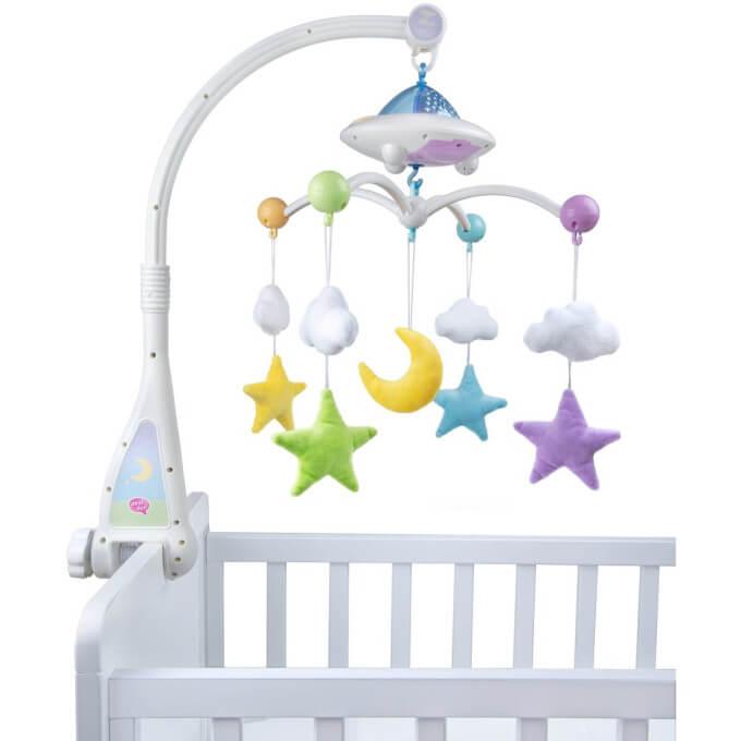 Moon & Stars - Mobile Bébé + Télécommande, Projection Lumière - 35 minutes Récitation Apaisante du Coran