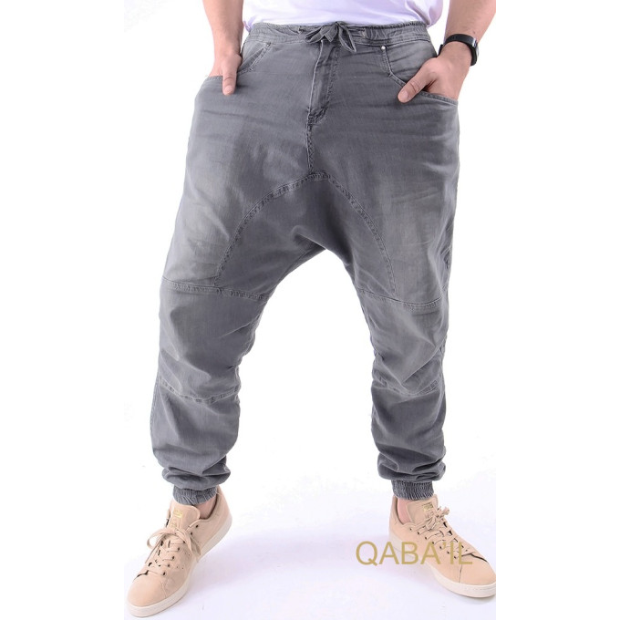 Sarouel jean gris clair Qaba'il : Next