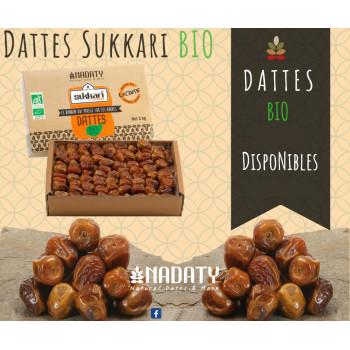 Dattes Sukari BIO - 3 kg - 100% Naturel - Madina Al Monowara - Arabie Saoudite - Nadaty