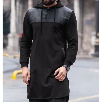 Qamis court noir Qaba'il : Jild