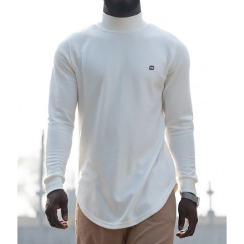 Pull Col Montant Qaba'il : Blanc