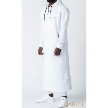 Qamis Long Blanc Qaba'il : Furtif
