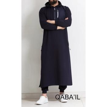 Qamis Long Bleu Foncé Qaba'il : Athletik