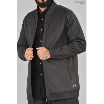 Veste GRIS Oversize - TWEED 100% Coton - Na3im
