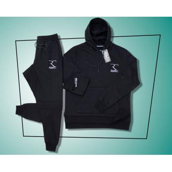 Ensemble Jogging Noir - Coupe Djazairy - 100% coton - Rayane