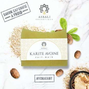 Savon Karité Avoine - Artisanal, Fait Main - 100 gr - Assali