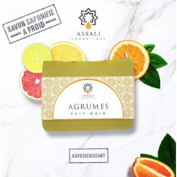 Savon Agrumes - Artisanal, Fait Main - 100 gr - Assali