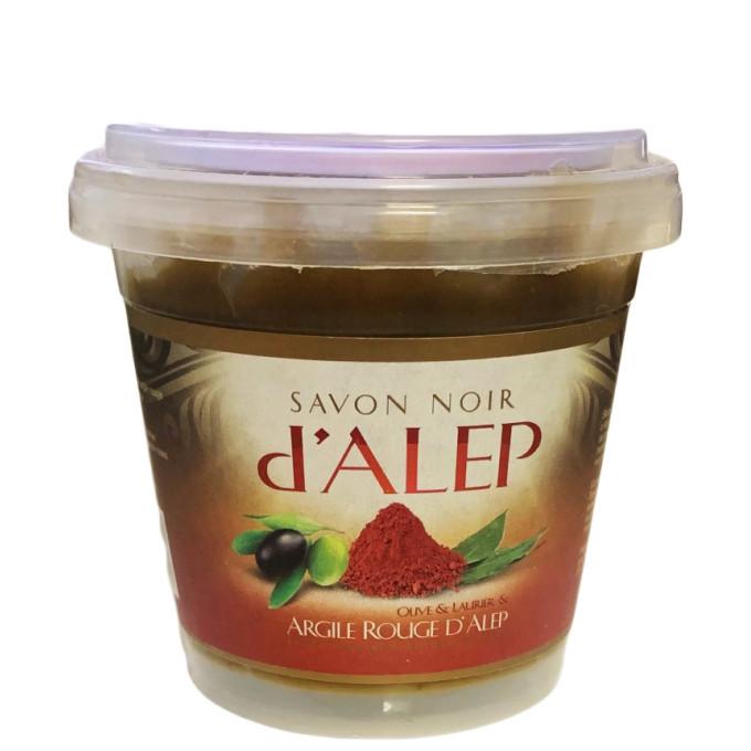 Savon Noir d'Alep à l'Argile Rouge - 100% Naturel et Biodégradable - 200 gr