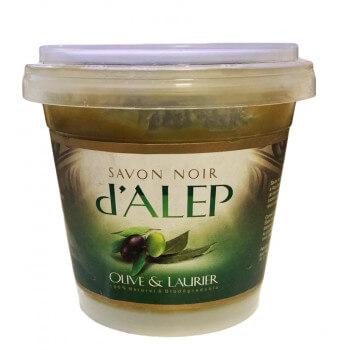 Savon Noir d'Alep à l'Olive et au Laurier - 100% Naturel et Biodégradable - 200 gr