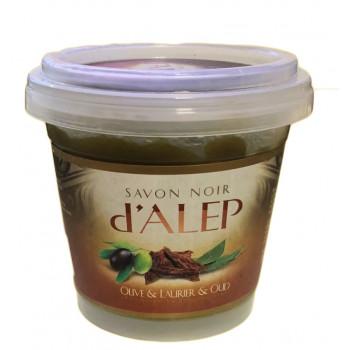 Savon Noir d'Alep au Oud - 100% Naturel et Biodégradable - 200 gr