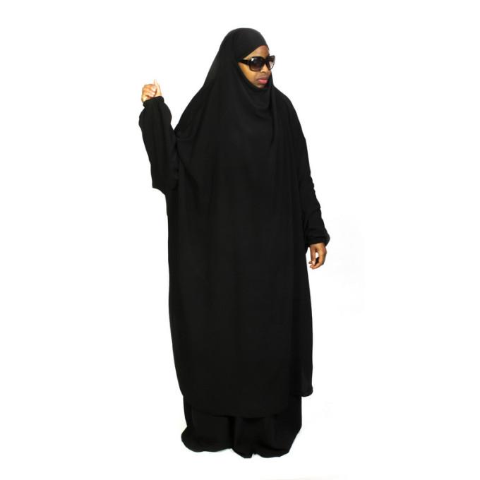 Jilbab 2P Jupe - Noir - Caviary - Jilbeb El Bassira