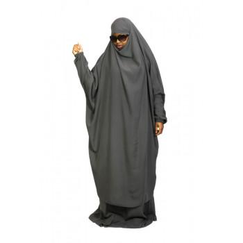 Jilbab 2P Jupe - Gris Souris 28 - Wool Peach - Jilbeb El Bassira