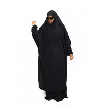 Jilbab 2P Jupe - Noir - Wool Peach - Jilbeb El Bassira