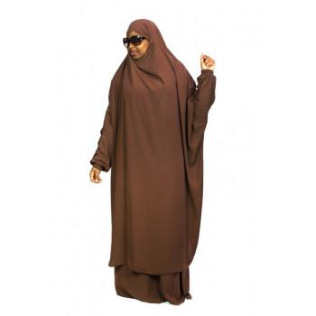 Jilbab 2P Jupe - Marron 6 - Wool Peach - Jilbeb El Bassira
