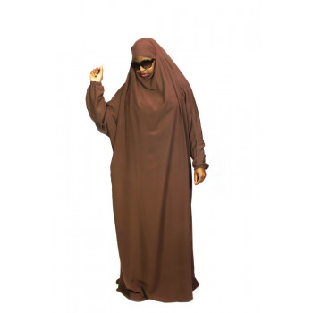 Jilbab 1P - Marron 6 - Wool Peach - Jilbeb El Bassira