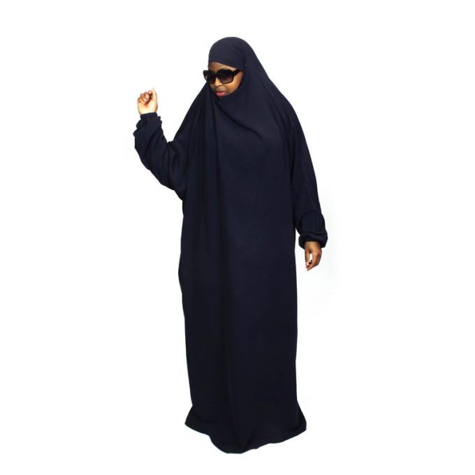 Jilbab 1P - Bleu Nuit 95 - Wool Peach - Jilbeb El Bassira - 6767-B