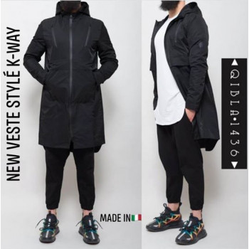 Veste Capuche Zippée - Style K-Way - Qibla 1436