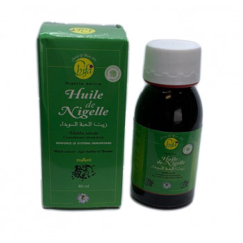 Huile de Nigelle - Habba Saouda - 1ère Pressée à Froid - 60 ml - Chifa
