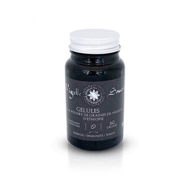 60 Gélules Végétales à la Graine de Nigelle - Habachiya – Vitalité, Défenses Immunitaires et Tonus – Nigelle Source