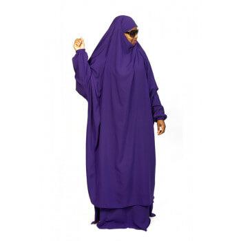Jilbab 2P Jupe - Violet 108 - Wool Peach - Jilbeb El Bassira