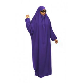 Jilbab 1P - Violet 108 - Wool Peach - Jilbeb El Bassira