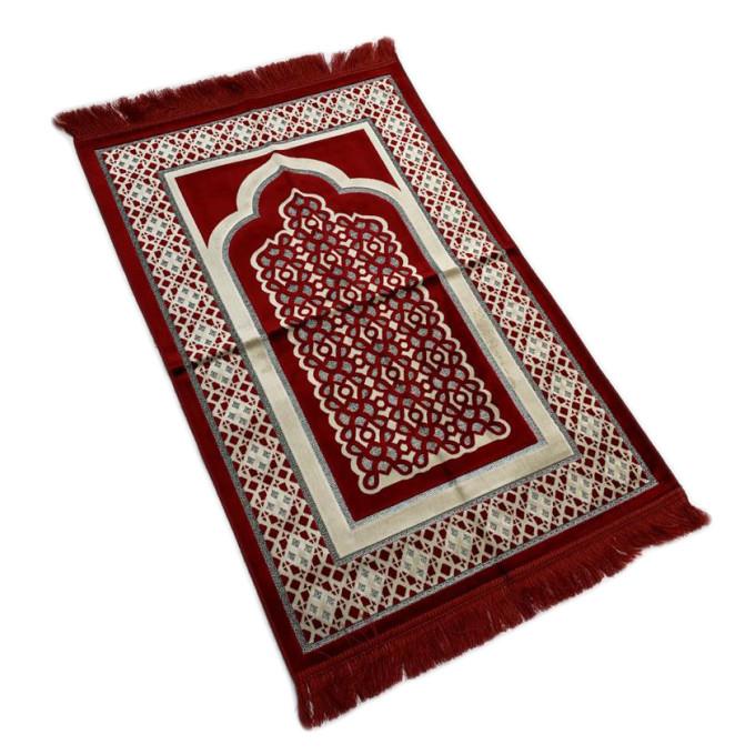 Tapis de Prière de Luxe Rouge - Adulte - 73 x110 cm