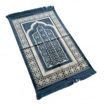 Tapis de Prière de Luxe Bleu Clair - Adulte - 73 x110 cm
