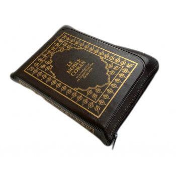 Le Noble Coran Marron Zipper - Français /Arabe - FORMAT POCHE 13 x 19 cm