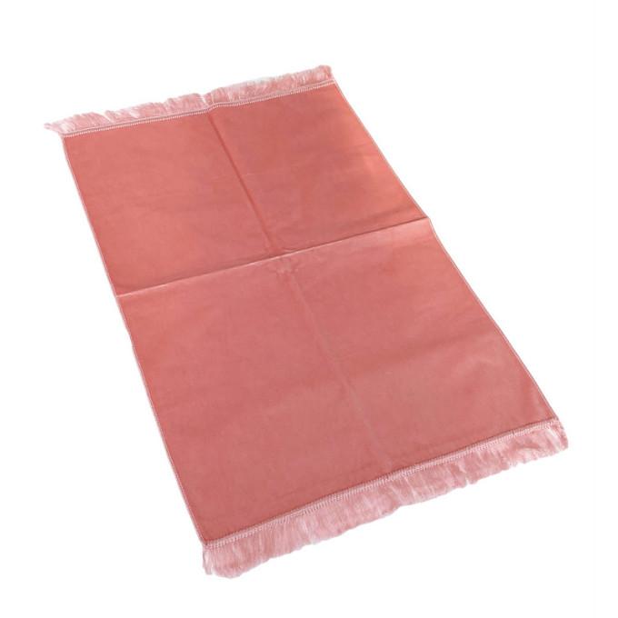 Tapis de Prière de Luxe - Couleur Rose Pâle Unis - Adulte - 73 x 110 cm