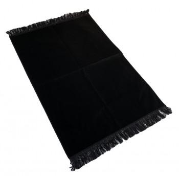 Tapis de Prière de Luxe - Couleur Noir Unis - Adulte - 73 x 110 cm
