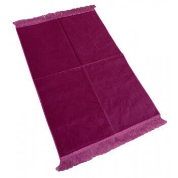 Tapis de Prière de Luxe - Couleur Fushia Unis - Adulte - 73 x 110 cm